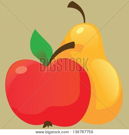 The Fruit icon - apple and pear