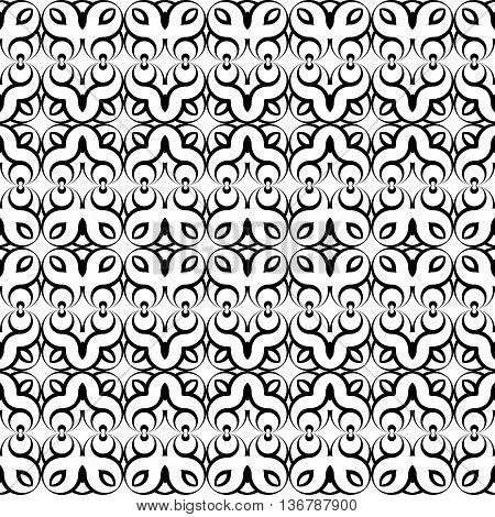 Design Seamless Monochrome Waving Decorative Pattern