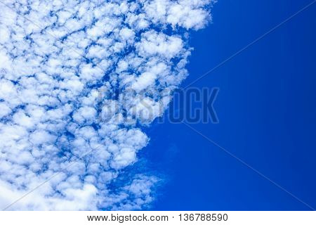 Close up of abstract clouds with blue sky