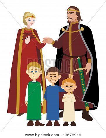Noble Family on White