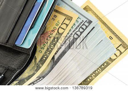 Money usd cash. bundle of money in wallet
