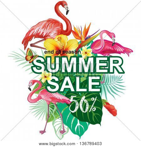 Template for summer sale Advertisement