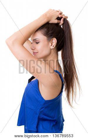 Beautiful latina young woman