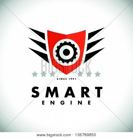 Vector flat simple minimalistic car logo. Auto icon isolated on white background. Repair service logo, garage logo, auto tuning studio insignia. Auto design. Auto illustration.