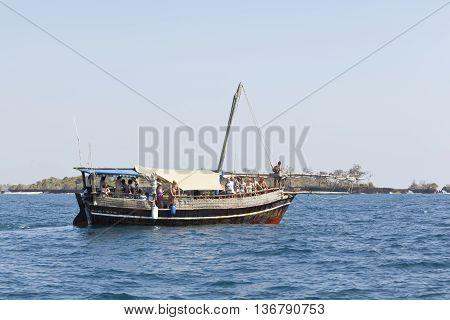 Tourist Boat In Kenya, Editorial