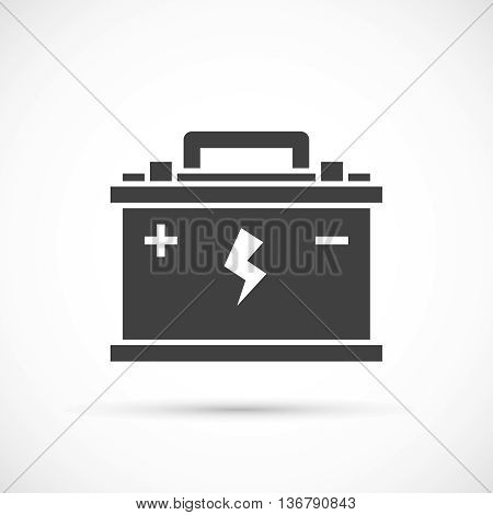 Car battery icon. Car repair service icon