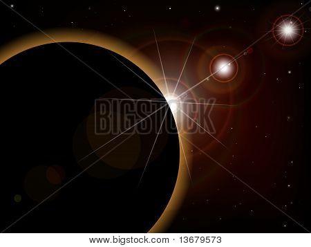 Eclipse - Fantasy Space Scene