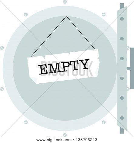 Illustration of economy crisis. Empty safe. vector