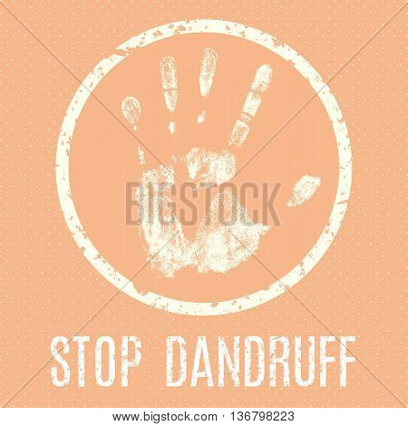 Conceptual vector illustration. Human diseases. Stop dandruff.