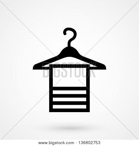 Towel Icon On White Background In Flat Style. Simple Vector