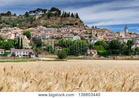 The the hill top village of Cadenet in the Luberon Provence