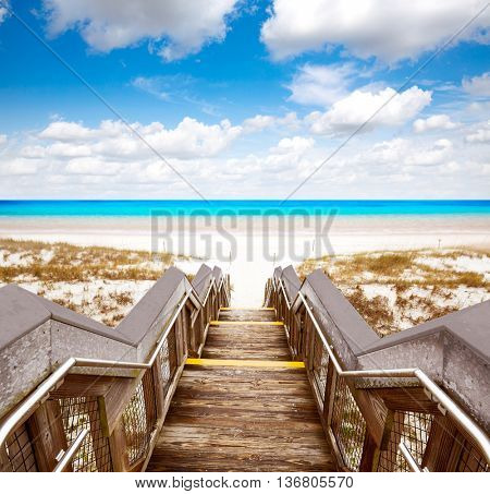 Destin beach in florida ar Henderson State Park USA
