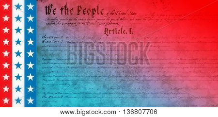 declaration of independence against digitally generated background