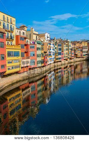 Historical Jewish Quarter In Girona, Spain.