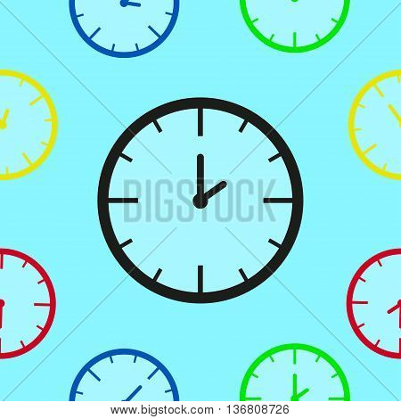 Stylish seamless pattern of mechanical watches.Time, watch, schedule, business, management, plan, work and urgency concept.