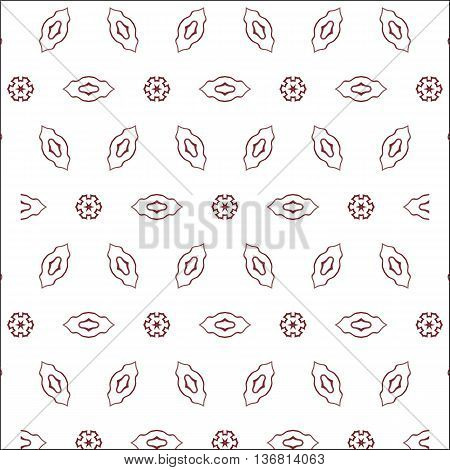Primitive red abstract pattern with lines and circles