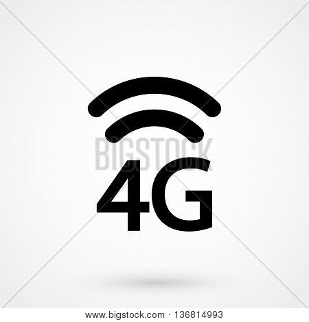 4G Icon Vector On White Background In Flat Style. Simple Vector