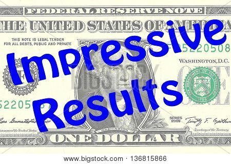Impressive Results Business Concept