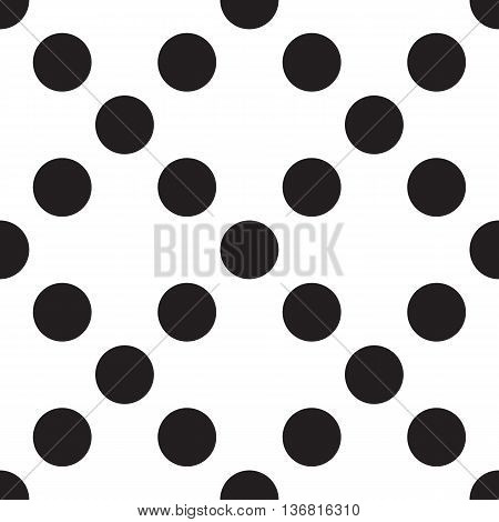 Abstract Geometric Pattern. Seamless Background. Black And White Texture.