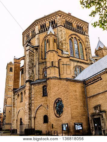 The Great Saint Martin at the fish market is a Romanesque Catholic Church in Cologne, known tourist attraction, Germany