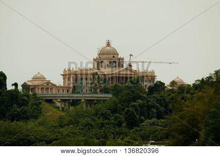 Istana Nurul Iman Palace in the Background-Bandar Seri Begawan, Brunei, Asia