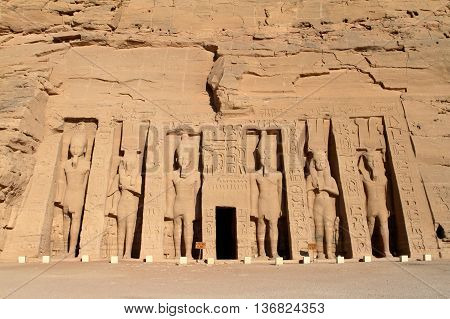 The temples of Abu Simbel in Egypt