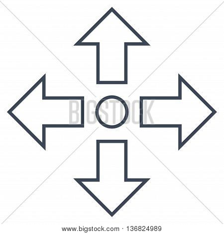 Maximize Arrows vector icon. Style is outline icon symbol, smooth blue color, white background.