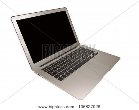 Modern Slim Laptop Cut Out On White Background