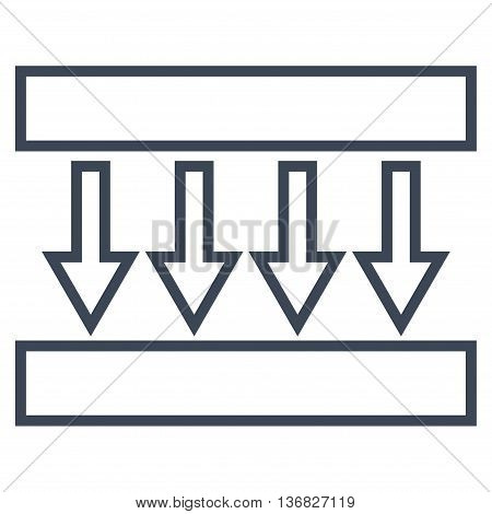 Pressure Vertical vector icon. Style is thin line icon symbol, smooth blue color, white background.