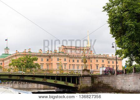 A view to old bridge in Saint Petersburg