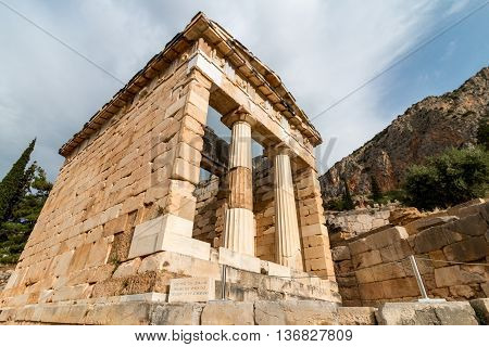 Archaeological Site Of Delphi, Greece