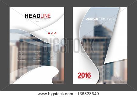 Two A4 size, annual report marketing business corporate design template. eps10 vector