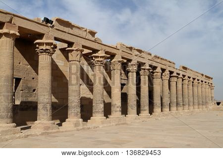 The Isis Temple of Philae in Egypt