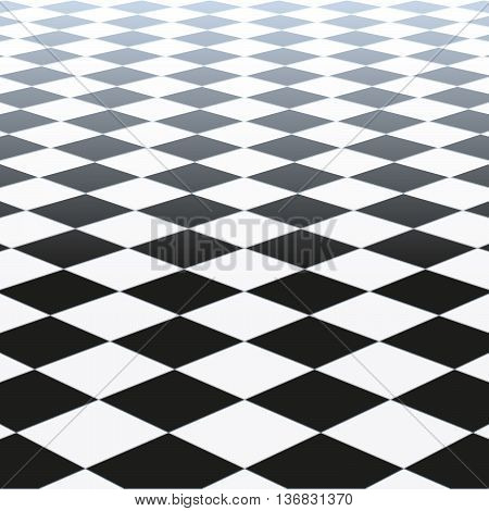Tiled Floor. Vector Illustration Of A Checkered Floor Pattern
