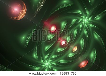 abstract fractal background a computer-generated 2D illustration, texture, spiral