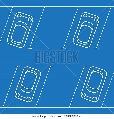 Park with parking places vector illustration eps10