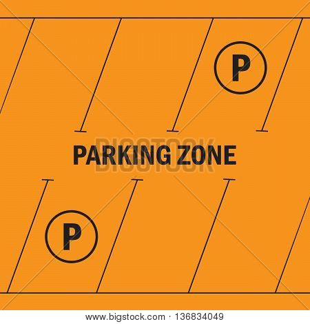 Park with parking places parking zone eps10
