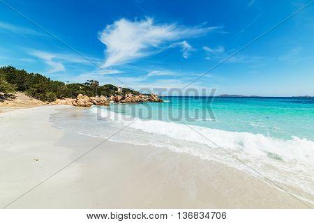 Capriccioli beach in Costa Smeralda in Italy