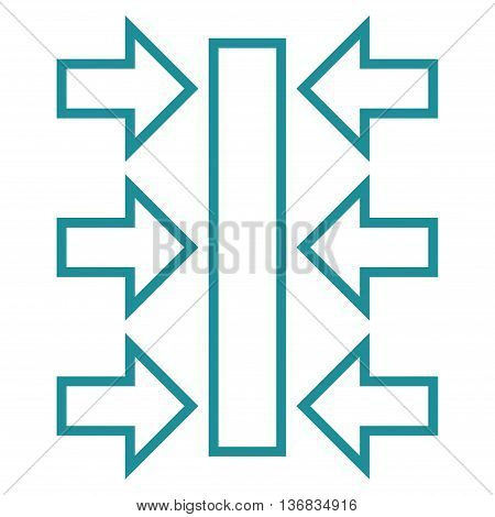 Pressure Horizontal vector icon. Style is outline icon symbol, soft blue color, white background.
