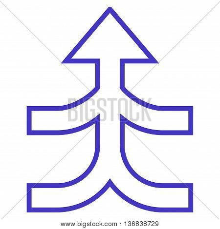Combine Arrow Up vector icon. Style is thin line icon symbol, violet color, white background.