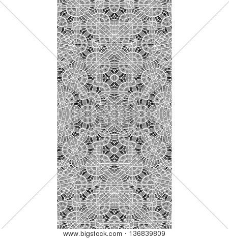 White Background With Oriental Design Borders