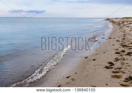 Beautiful Dyngby strand beach on east Jutland, Denmark