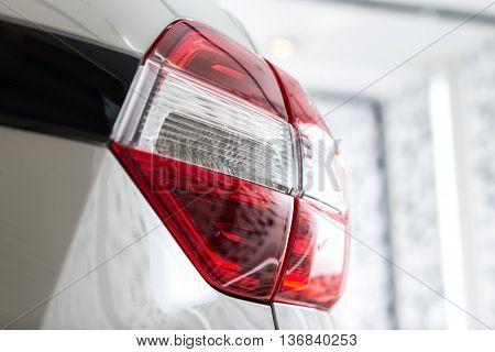 Car detailing series : Clean white car taillights