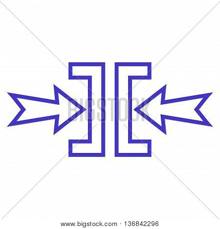 Pressure Horizontal vector icon. Style is stroke icon symbol, violet color, white background.