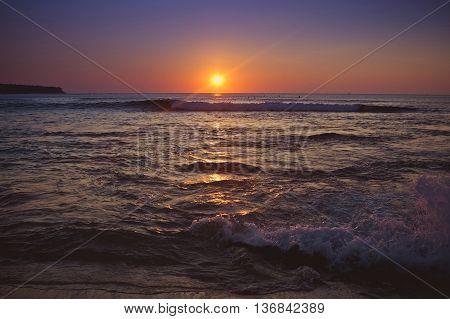 Sunset in the beach Dreamland, Bali, Indonesia
