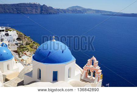 View At The Church At Santorini,  Greek Aegean Island