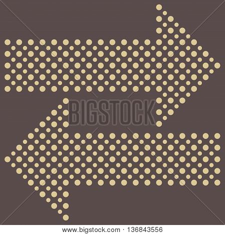 Fine vector dotted golden arrows. Elements for web, infographic and diagrams