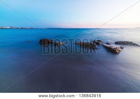 long exposure in Alghero shoreline in Sardinia