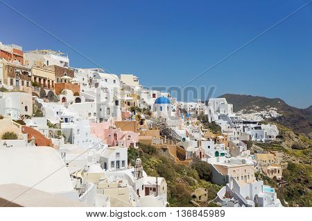 View At The Greek Aegean Island, Santorini