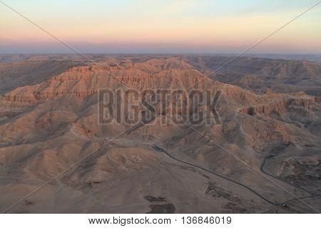The Landscape of the Sahare in Egypt near Aswan